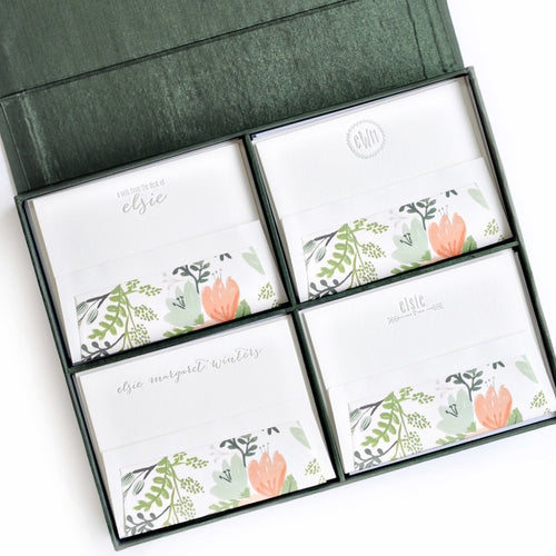 Haute Papier Grand Pine Silk Stationery Gift Box- G3