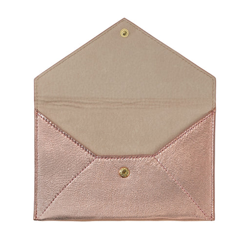 Graphic Image Medium Envelope, Metallic Goat Skin (Customizable)