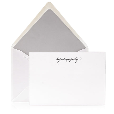 "Bell'INVITO ""With a Heavy Heart"" Sympathy Cards, Pack of 2"
