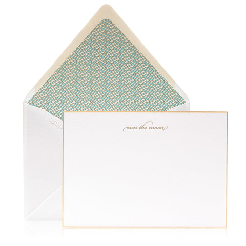 Crane and Co Engraved Peony Note Cards, Set of 10
