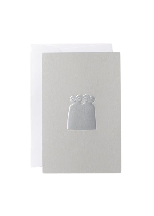 "Noat Letterpress Single Blank Card- ""Eye Idol"""