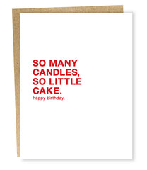 "Sapling Press ""So Many Candles"" Greeting Card"