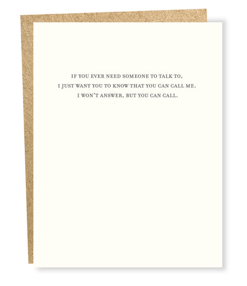 "Sapling Press ""Call Me"" Greeting Card"
