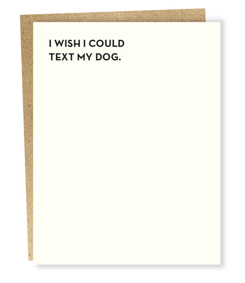 "Sapling Press ""Dog Text"" Greeting Card"