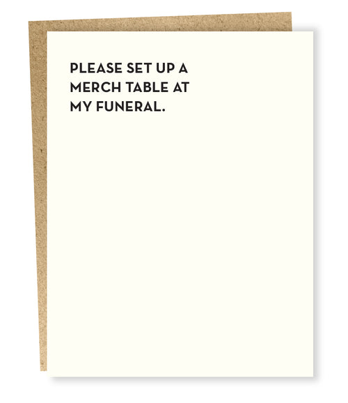 "Sapling Press ""Merch Table"" Greeting Card"