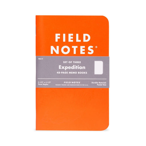 Field Notes Expedition Waterproof Notebook - Set of 3
