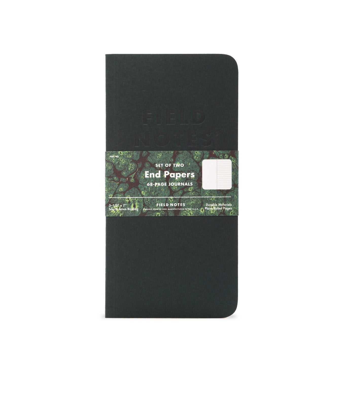 Field Notes End Papers Notebook - Set of 2