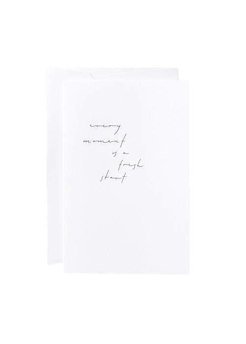 "Noat Letterpress Single Blank Card- ""Every Moment"""