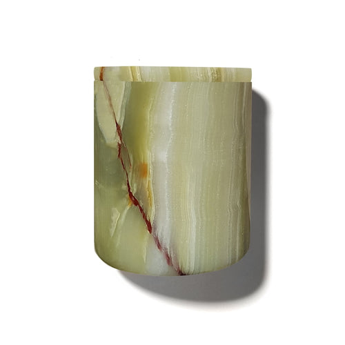 The Luxuriate Green Onyx Candle Holder