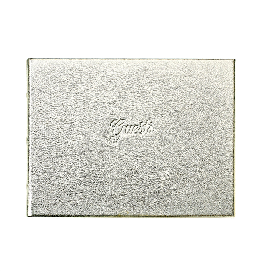 Graphic Image Elegant Full Grain Leather Guest Book (Customizable)