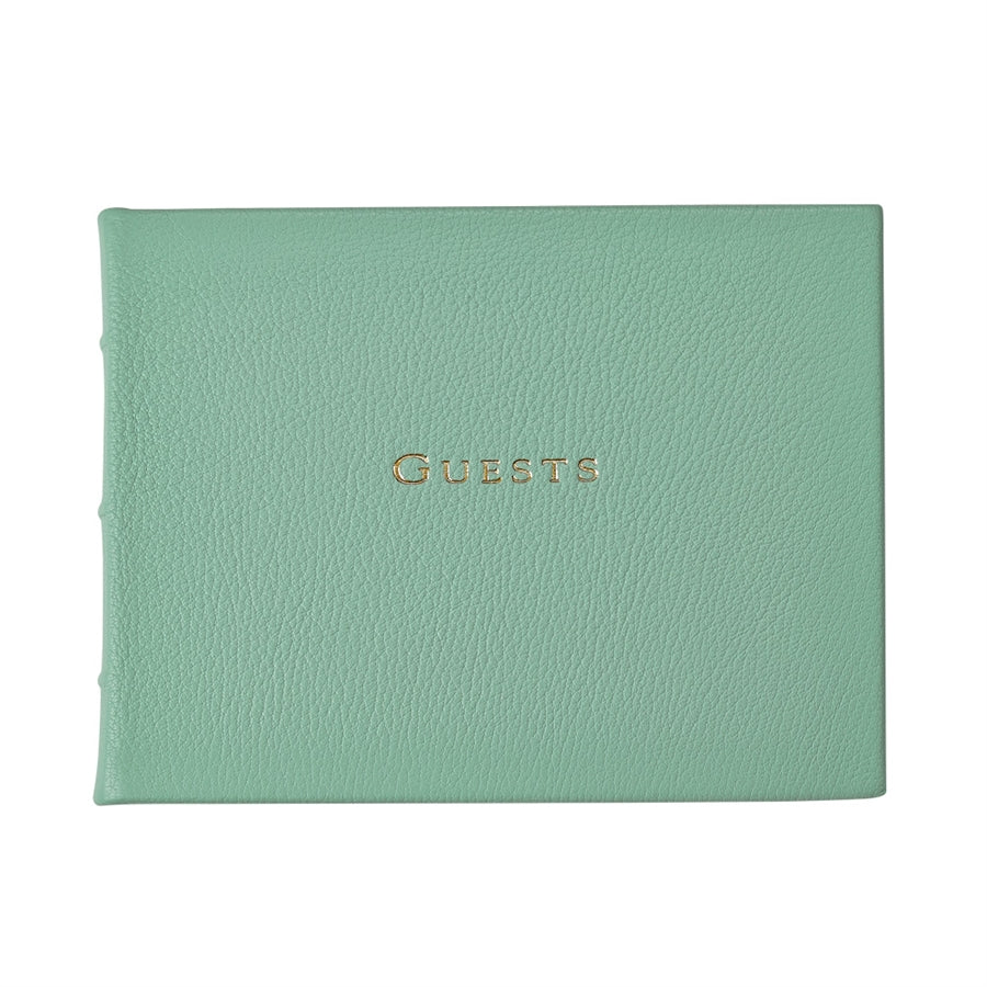 Graphic Image Goatskin Leather Guest Book (Customizable)