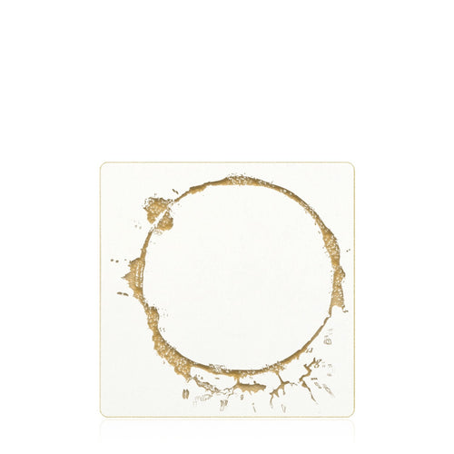 Bell'INVITO Gold Ring Coasters, Set of 18