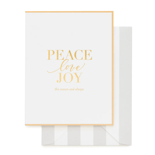 "Sugar Paper ""Peace Love Joy"" Set of 6 Greeting Cards"