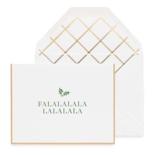"Sugar Paper ""Classic Falalala"" Set of 6 Greeting Cards"