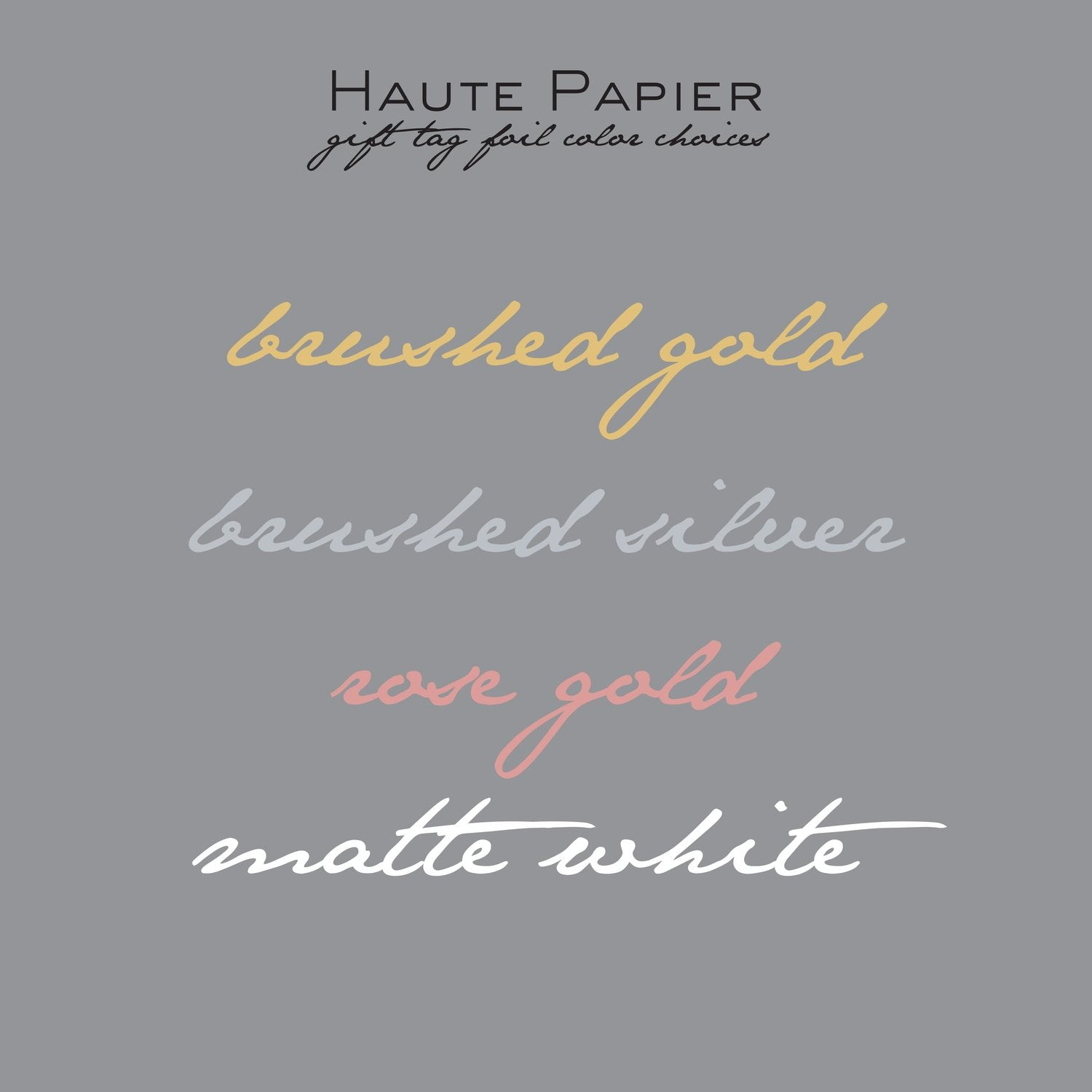 Haute Papier Foil Gift Tag-T4 (Customizable)