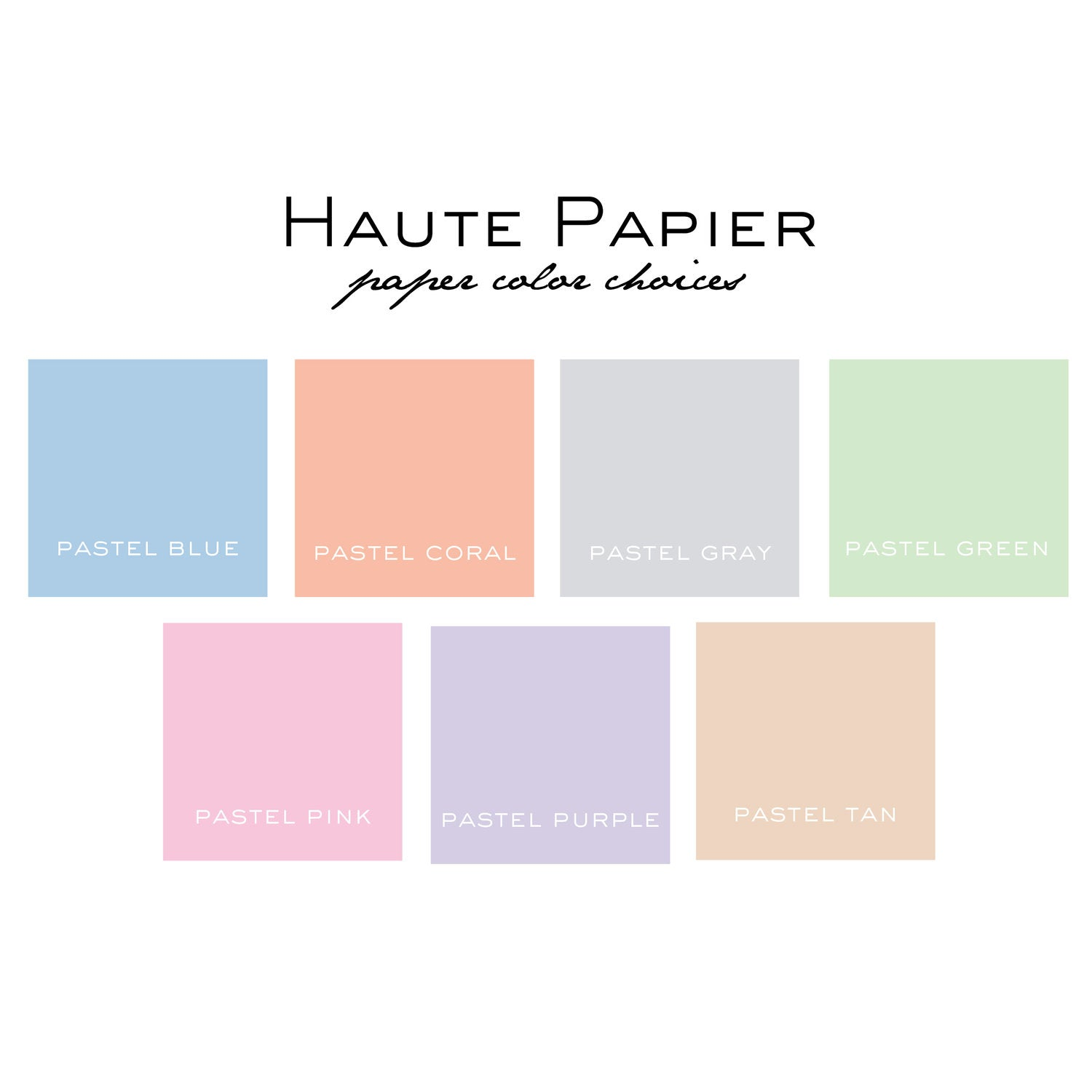 Haute Papier Pastel Colors Notepad- Letter Size (Customizable)