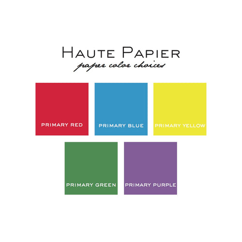 Haute Papier Square Pad, Primary Colors - 150 Sheets (Customizable)