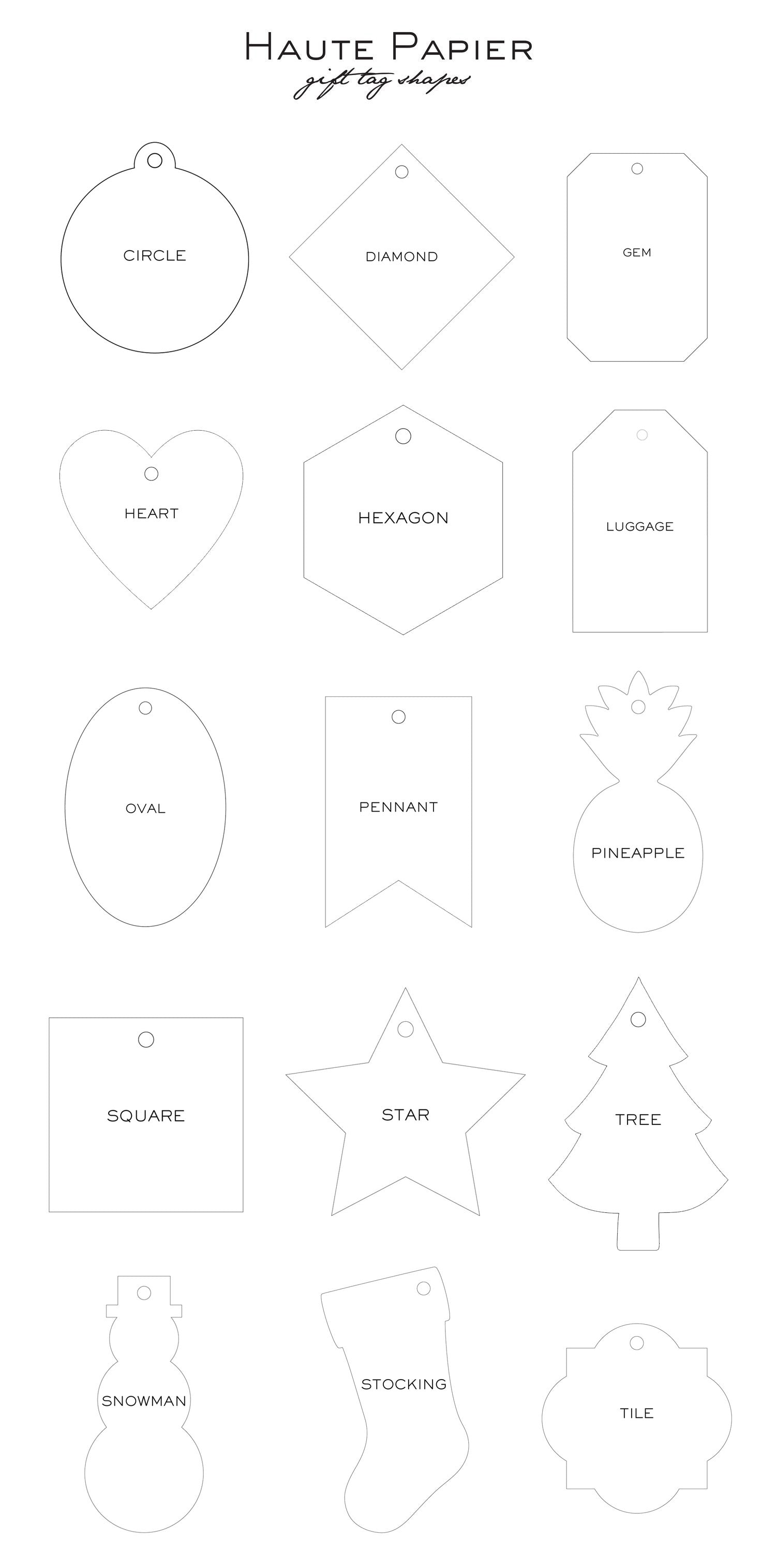 Haute Papier Gift Tag-T84 (Customizable)