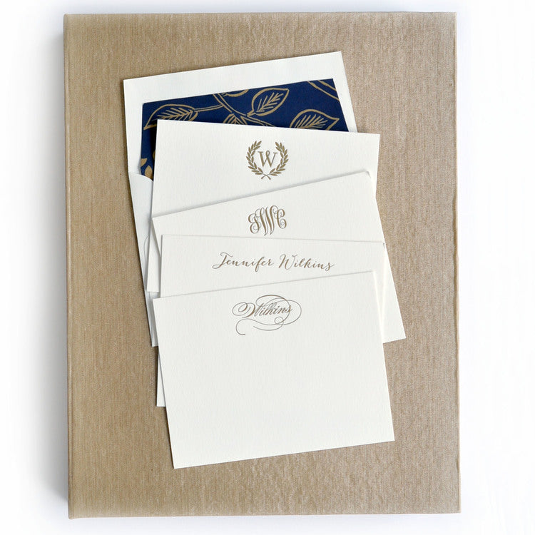 Haute Papier Grand Champagne Silk Stationery Gift Box- G16