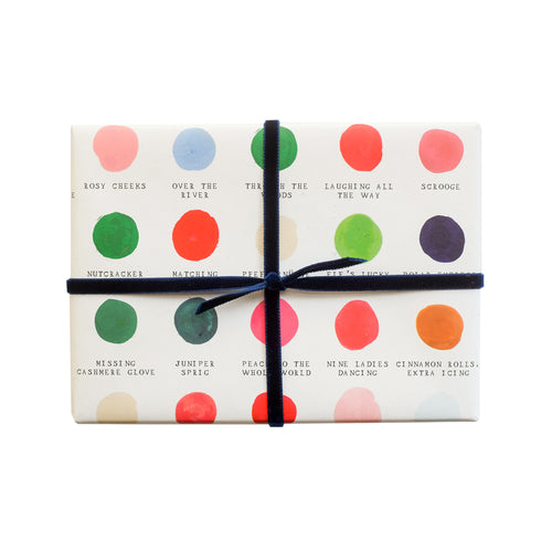"Mr. Boddington ""Holiday Color Palette"" Wrapping Paper- Roll of 3 Sheets"