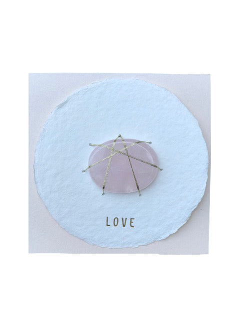 Soolip Halo Cards- Love, Rose Quartz