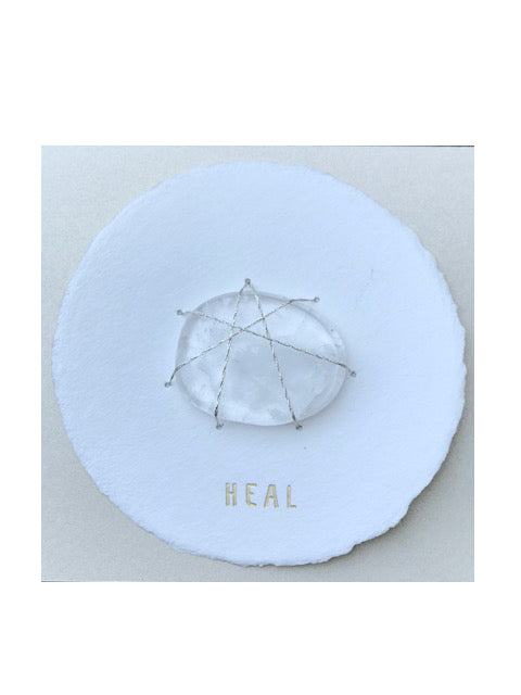 Soolip Halo Cards- Heal, Clear Quartz