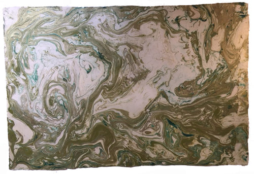 Bespoke Designs Lotka Wrapping Paper (1 Sheet)- Green and Gold Marble
