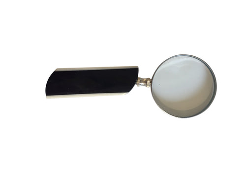 Small Black and White Desk Magnifier