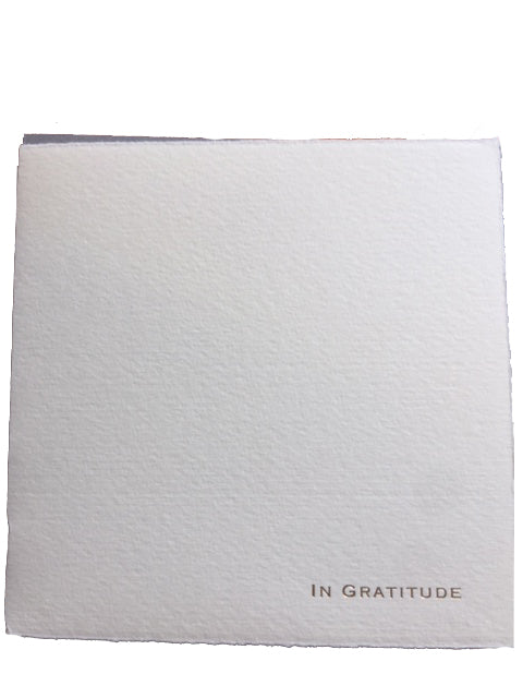 "Soolip ""In Gratitude"" Greeting Card"