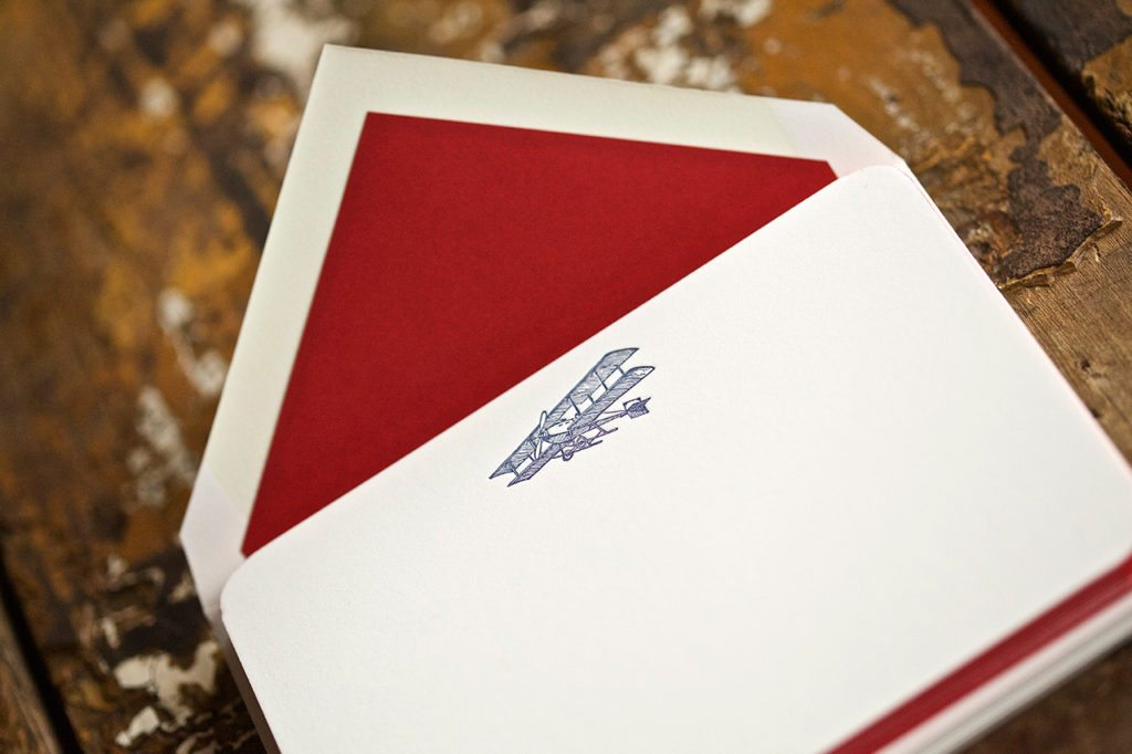 Pickett's Press Letterpress Vintage Airplane Boxed Stationery