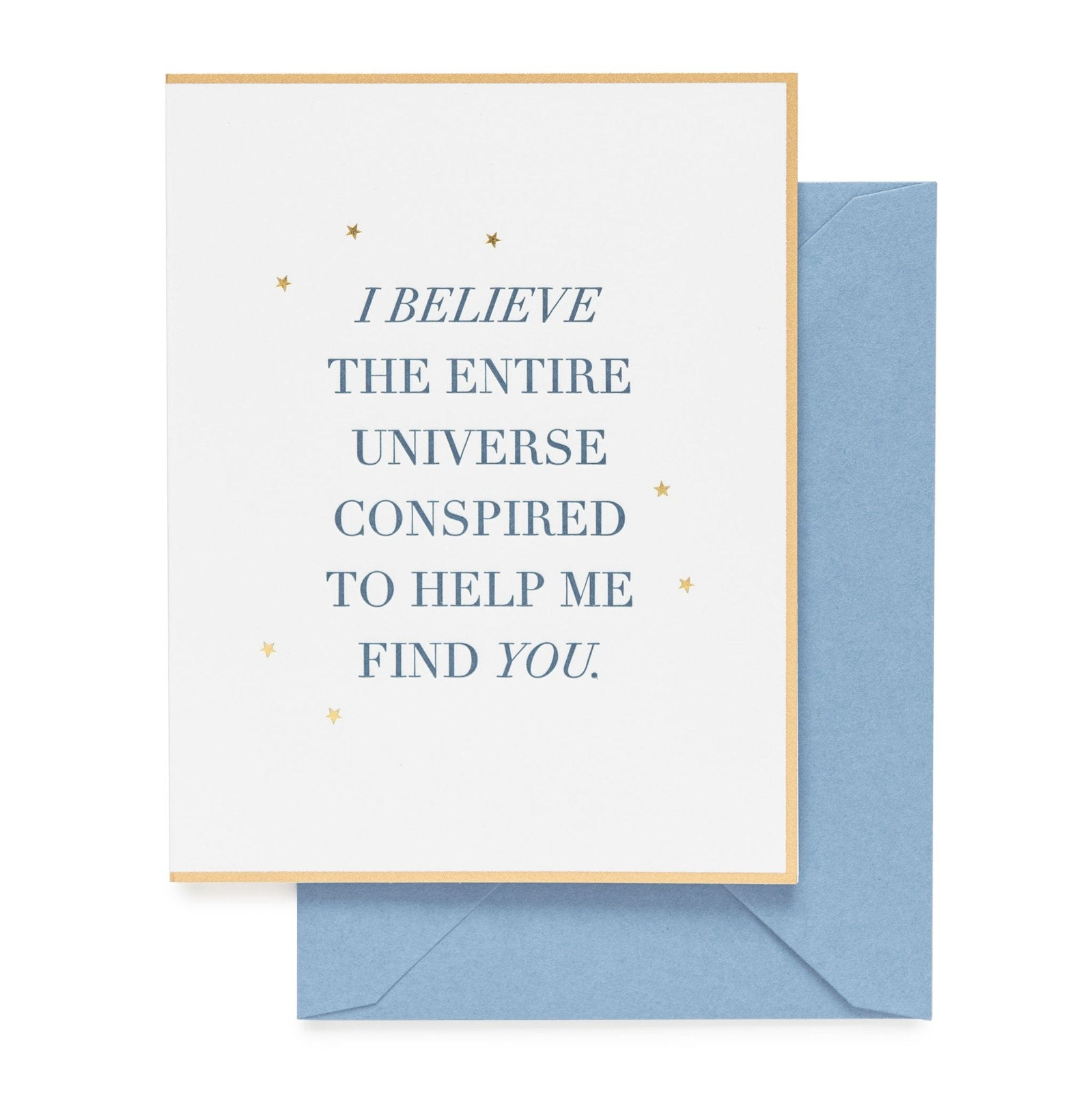 Sugar Paper I Believe The Universe Greeting Card Bespokedesigns