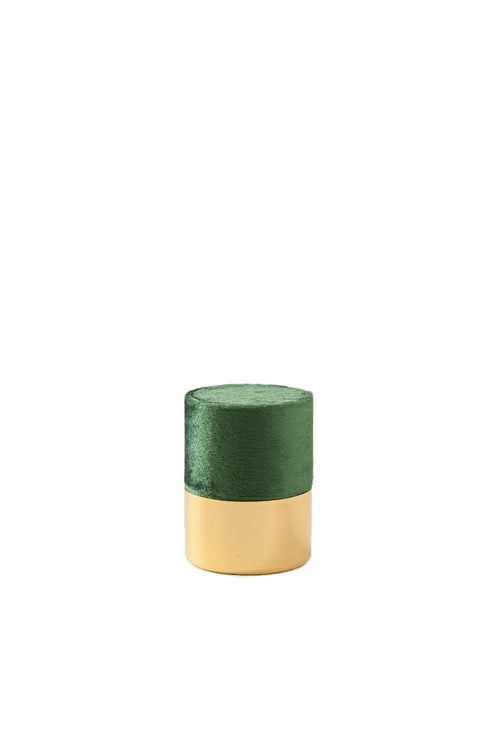 Esselle Emerald Velvet and Gold Ring Box