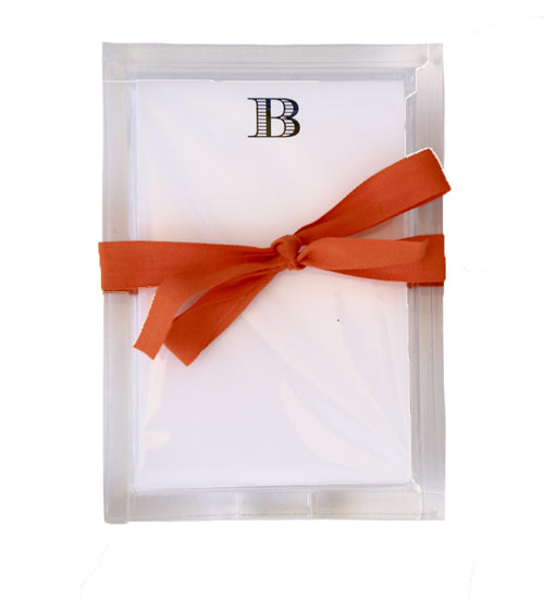 Bespoke Designs Personalized Notes in a Lucite Tray (Customizable)