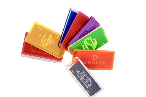 Bespoke Designs Personalized Lucite Luggage Tags (Customizable)