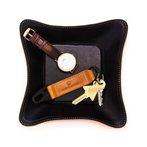 "Made in Mayhem ""Mason"" Leather Catch-All Tray- Black"
