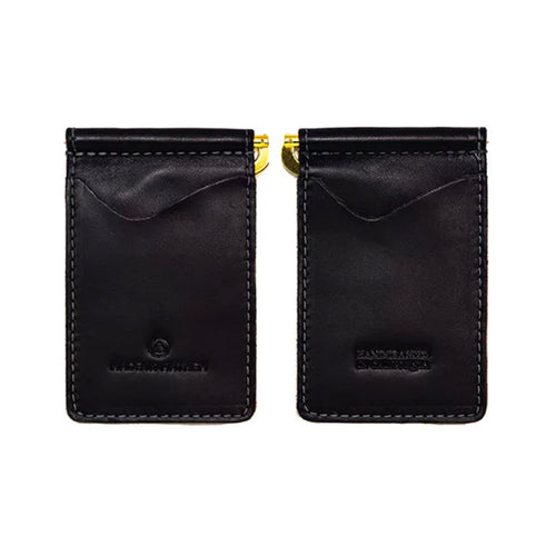 "Made in Mayhem ""Madison"" Leather Money Clip Wallet- Black"