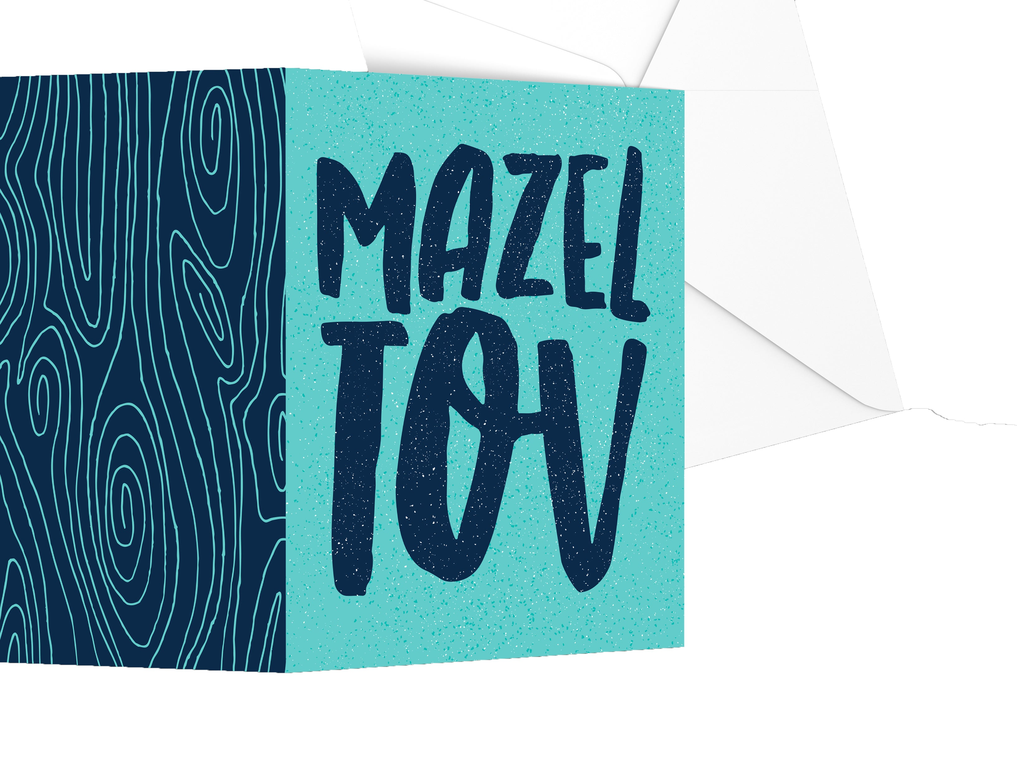 Spinpin Creative Blue and Turquoise Mitzvah Cards, Set of 3