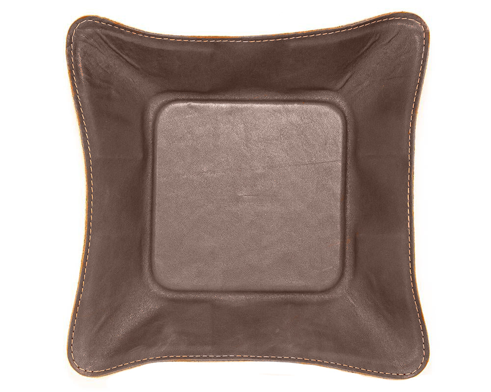 "Made in Mayhem ""Mason"" Leather Catch-All Tray- Brown"