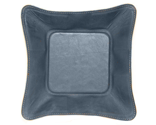 "Made in Mayhem ""Mason"" Leather Catch-All Tray- Navy"