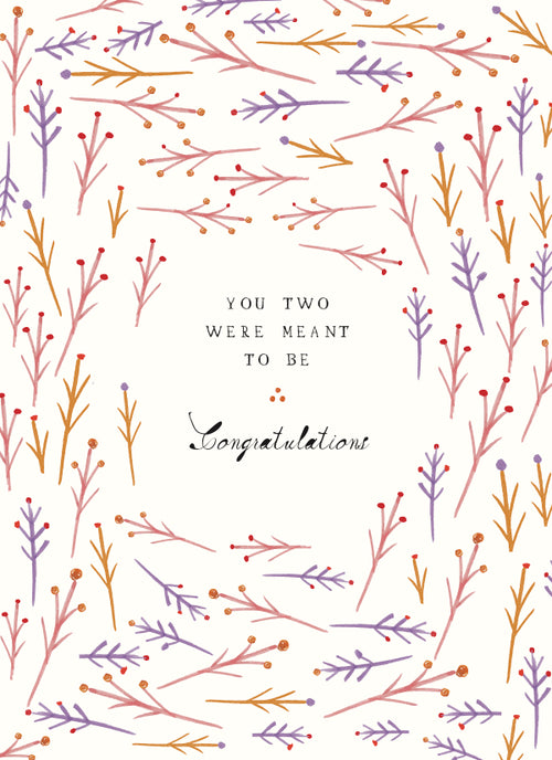 "Mr. Boddington ""You Were Meant to Be"" Wedding Greeting Card"