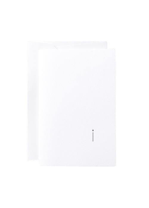 "Noat Letterpress Single Blank Card- ""Minimalist Birthday"""
