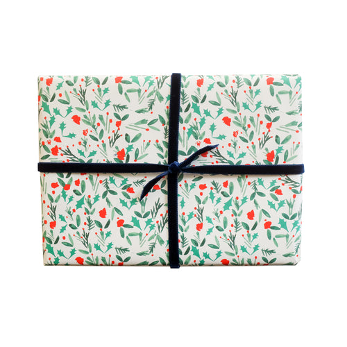 "Mr. Boddington ""Meet Me Under the Mistletoe"" Wrapping Paper- Roll of 3 Sheets"