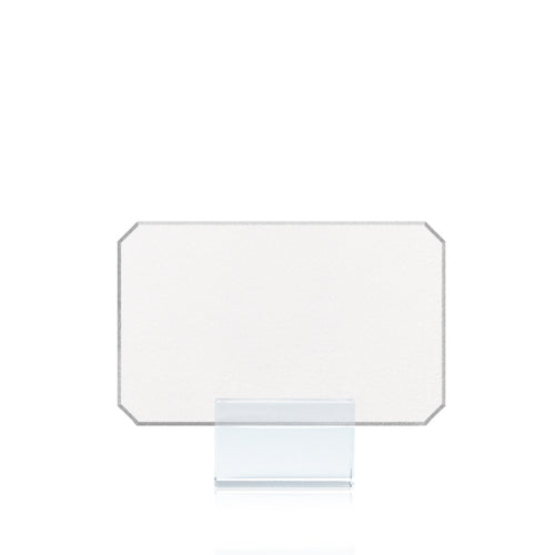 Bell'INVITO Silver Tipped Corner Place Cards- Set of 15