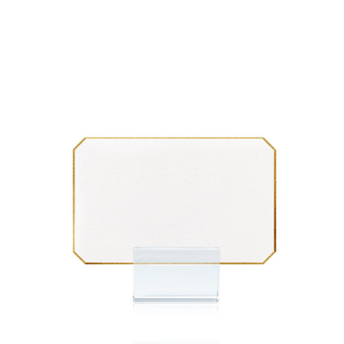 Bell'INVITO Gold Tipped Corner Place Cards- Set of 15