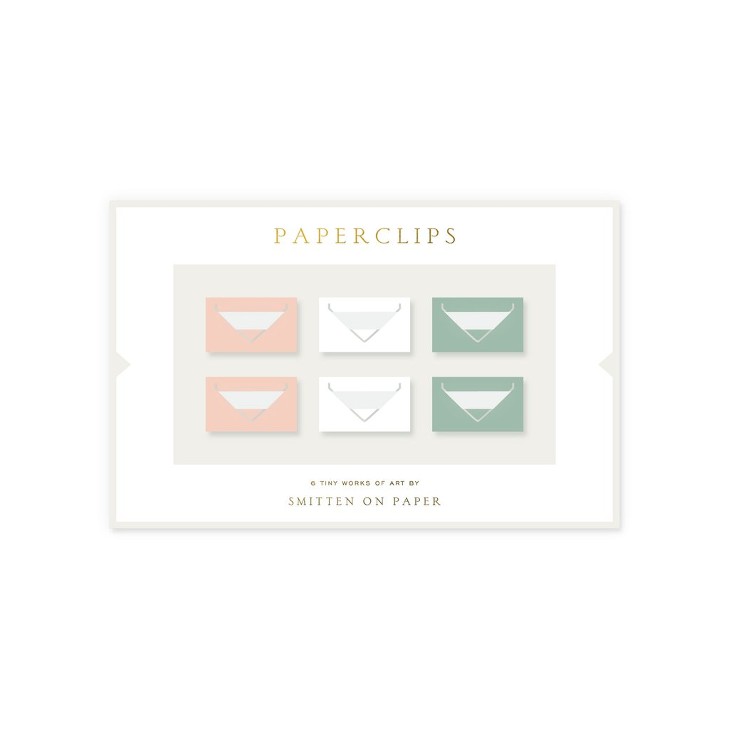 Smitten on Paper Small Envelope Paperclips- Set of 6