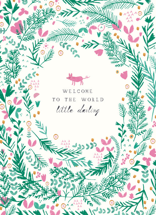 "Mr. Boddington ""Lullaby For Baby"" New Baby Greeting Card"