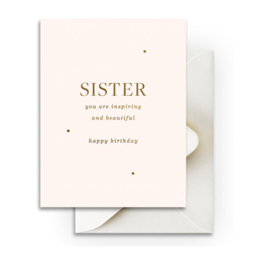 "Smitten on Paper ""Beautiful Sister Birthday"" Greeting Card"