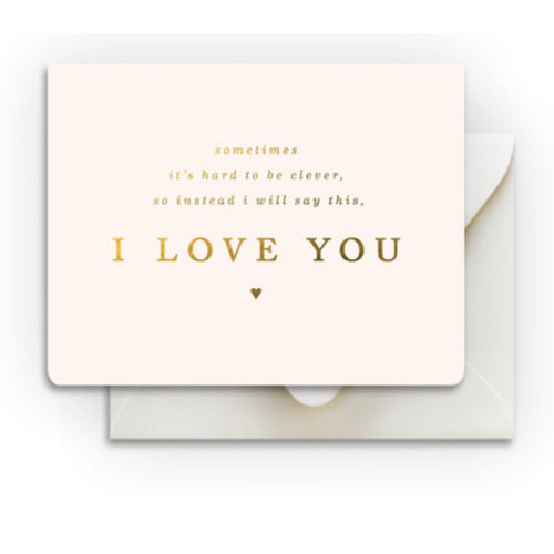 "Smitten on Paper ""Clever Love"" Greeting Card"