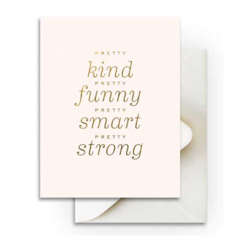 "Smitten on Paper ""Pretty Kind"" Greeting Card"