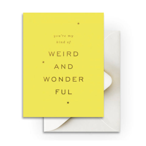 "Smitten on Paper ""Kind, Funny, Loyal and True"" Birthday Card"